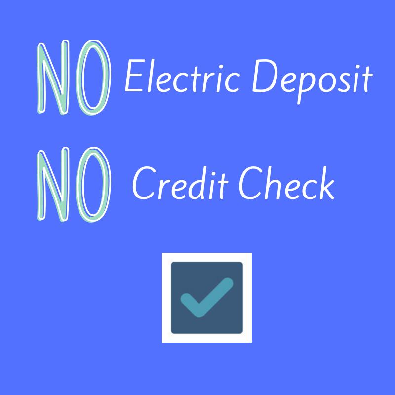 No Credit Check No Deposit Electricity